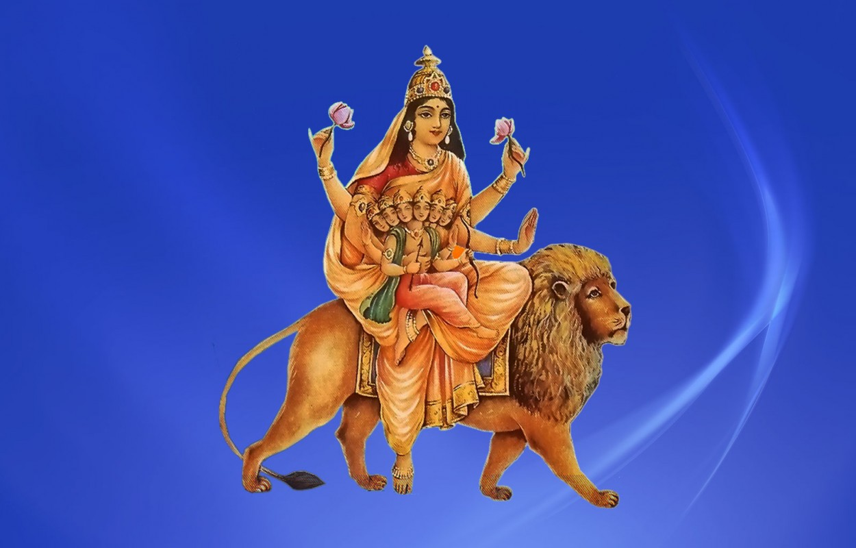 Navratri Goddess Maa Skandmata Fifth Avtar of Durga Jai Maa Di HD Wallpapers, Images, Pictures, Photos, Vectors, Graphics